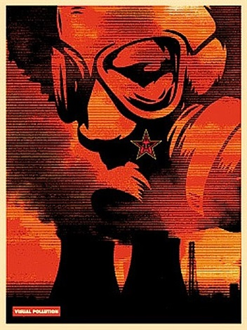 visual pollution by shepard fairey