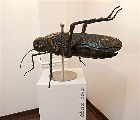 saltamontes (grasshopper) by roberto fabelo