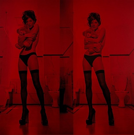 kate moss (diptych) by russell young