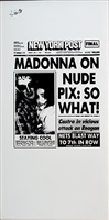 new york post (madonna on nude pix: so what!) by andy warhol