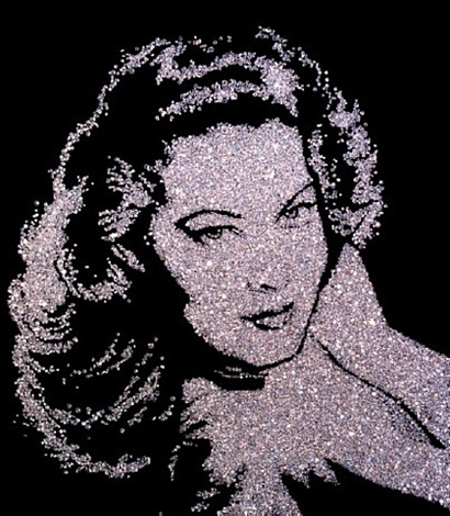 pictures of diamonds, ava gardner by vik muniz