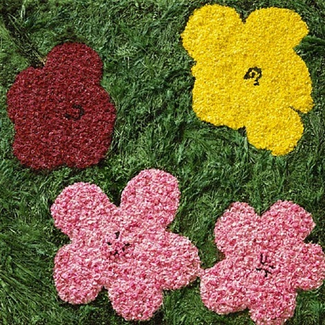 flowers after warhol iv by vik muniz