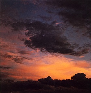 sunset clouds, tesque, new mexico by eliot porter