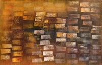 untitled - monotype / painting by harry bertoia