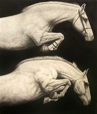 untitled - vertical double horse by joseph piccillo