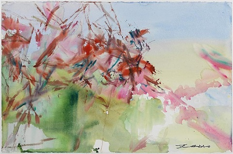 untitled (la cavalerie) by zao wou-ki