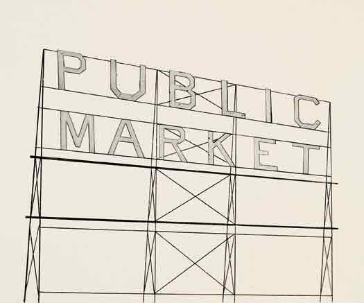 public market by ed ruscha