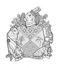 heraldic crests for invasive species: european rabbit by marina zurkow