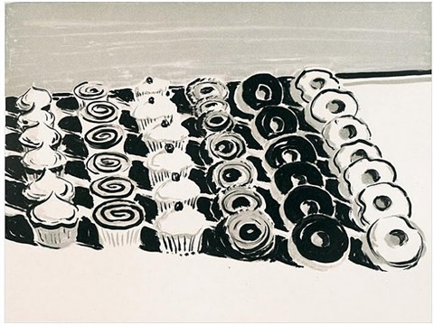 dark cupcakes and donuts, 2006<br /><br /><b>we buy quality prints free appraisals</b> by wayne thiebaud