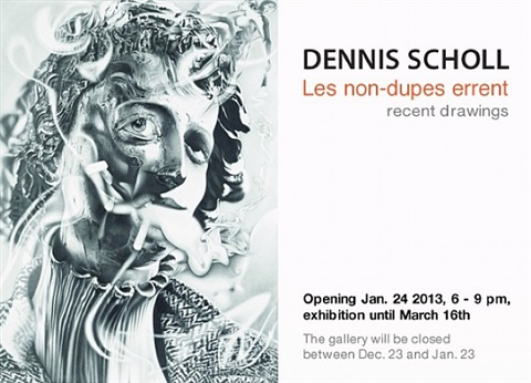 dennis scholl: les non-dupes errent - recent drawings