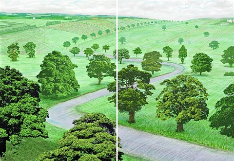 a bigger green valley by david hockney