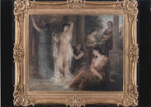 le bain by henri fantin-latour