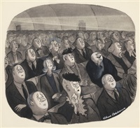 sad movie (illus. for the new yorker magazine march 23, 1946) by charles addams