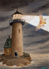 the beam of the lighthouse, the new yorker cover by charles addams