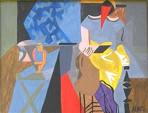 lady in an interior by andré lhote