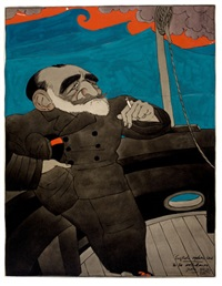 joseph conrad, judge magazine illustration, june by ralph barton