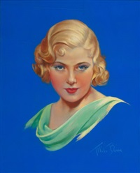 mary carlisle, movie mag cover by mila baine