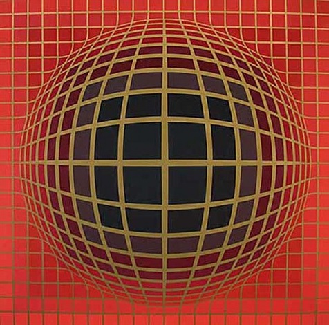 red vega by victor vasarely