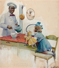 a visit with chef, cream of wheat advertisement by susan e. arthurs