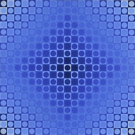 alom blue/ blue by victor vasarely