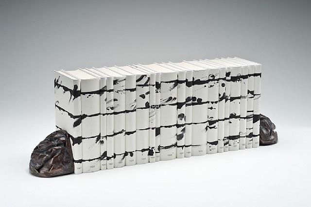 unalphabetische zeilen nobelpreisbibliothek by günther uecker