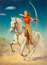 the archer (magazine cover for star weekly) by frederick sands brunner