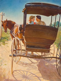 the carriage ride by frederick sands brunner
