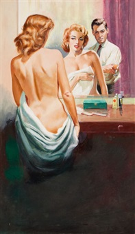 nude in the mirror (a ghost, passion, & suspense paperback cover) by harry barton