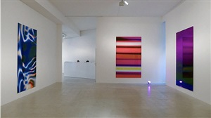 view of exhibition, colours in love, at laleh june galerie by marc rembold