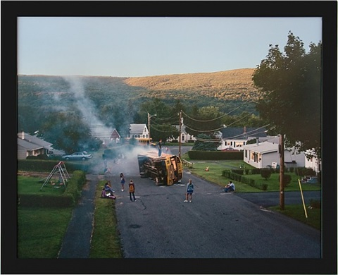 untitled (bus fire) (from twilight) by gregory crewdson