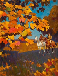 autumn ride by frederick sands brunner