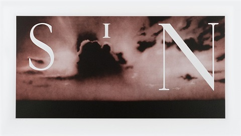 sin-without (dark red) by ed ruscha