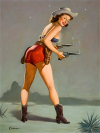 shootin em up, pin-up by paul cernia