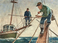 spear fishermen by amos sewell