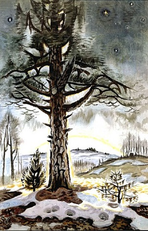 late winter dawn by charles ephraim burchfield