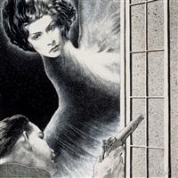 weird tales pulp interior illustration by virgil finlay