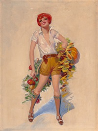 yes we have no bananas, film fun magazine cover by enoch bolles