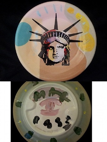 liberty head plate by peter max