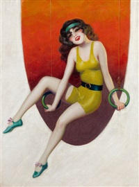 ann pennington (film fun magazine cover, december 1929) by enoch bolles
