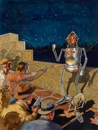 i, robot, amazing stories pulp cover, january by robert fuqua
