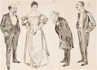 the american abroad: some features of the matrimonial market, life magazine story illustration by charles dana gibson