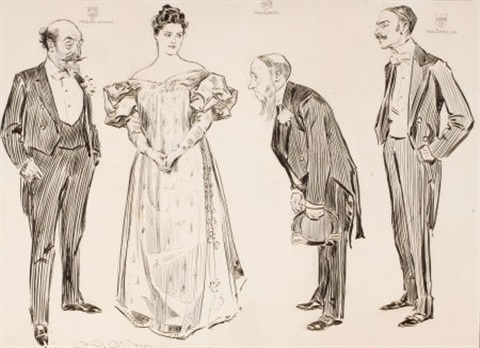 the american abroad some features of the matrimonial market life magazine story illustration by charles dana gibson