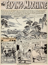 the flying machine, complete six-page story, weird-science fantasy #23 (ec comics) (6 works) by bernard krigstein