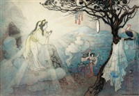 untitled (illus. for the story of suza, the impetuous, green willow and other japanese fairy tales) by warwick goble