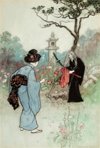 untitled (illus. for the nurse, green willow and other japanese fairy tales) by warwick goble