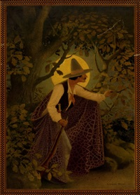 woodsman in the moonlight by george washington hood