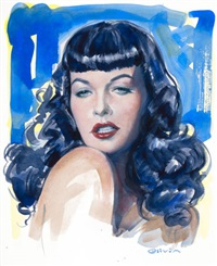 little leopard, bettie page by olivia de berardinis