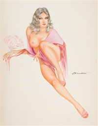 nude pin-up by joseph f. de martini