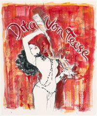 dita von teese: the night they invented champagne, poster study by olivia de berardinis