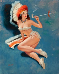 indian pin-up by peter darro